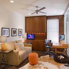 Contemporary Home Office by Texas Construction Company