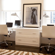 Contemporary Home Office by Mary Prince Photography