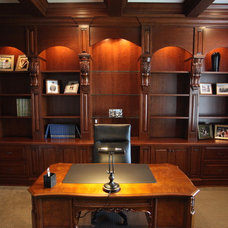 Traditional Home Office by MHI Interiors