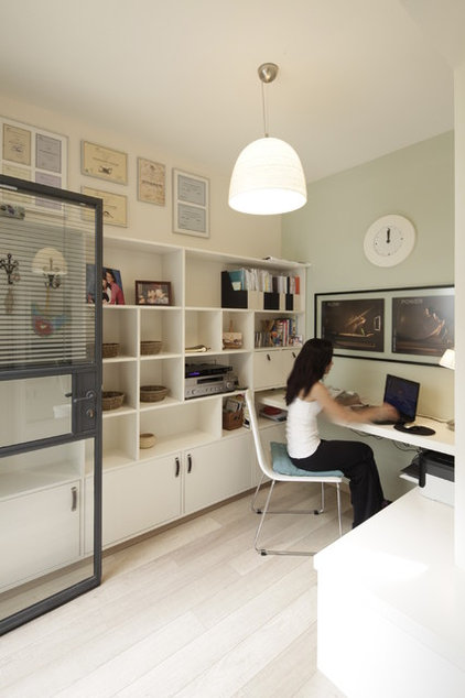 Contemporary Home Office by 2 designers
