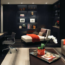 Contemporary Home Office by Gary Lee Partners