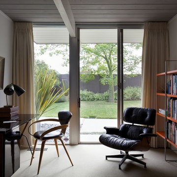 Mid-century home office space