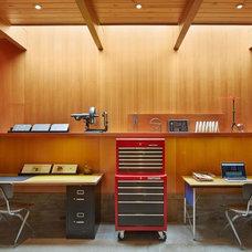 Midcentury Home Office by Koch Architects, Inc.  Joanne Koch