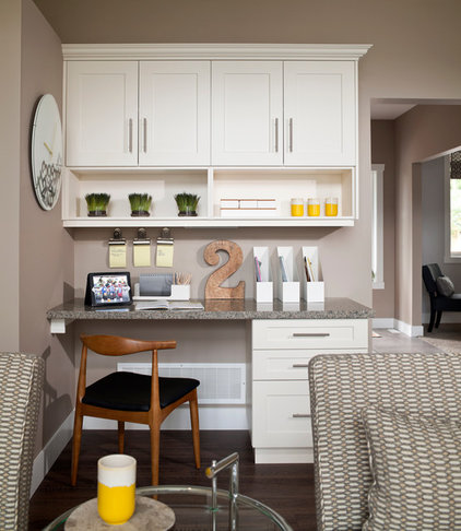 Transitional Home Office by i3 design group