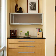Midcentury Home Office by Lucy Johnson Interior Design