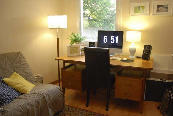 Modern Home Office Mid-century thrifted desk
