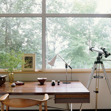 Midcentury Home Office by Amy Lau Design