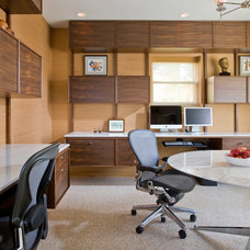 Midcentury Home Office by Studio Santalla, Inc