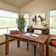Contemporary Home Office by Brookfield Residential Colorado
