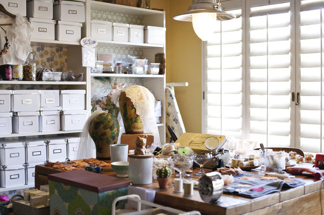 Eclectic Home Office by Mignonne handmade