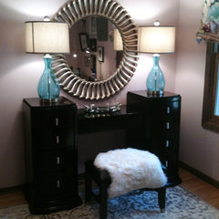 traditional home office by Tiffany Hanken Design