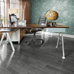 Mirage Hard Wood Flooring - Mirage Yellow Birch Charcoal. Midnight mist. A touch of modernity.