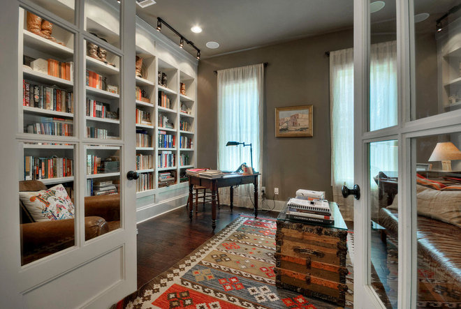 Farmhouse Home Office by Dakan Construction LLC