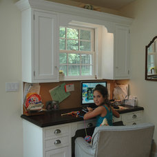 Traditional Home Office by Sunrise Building & Remodeling Inc