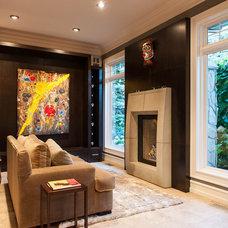 Contemporary Home Office by Okanagan Dream Builders Ltd.