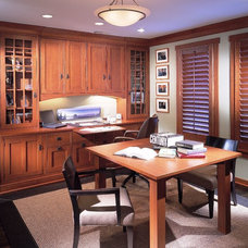 Traditional Home Office by Eric Lieberknecht Design