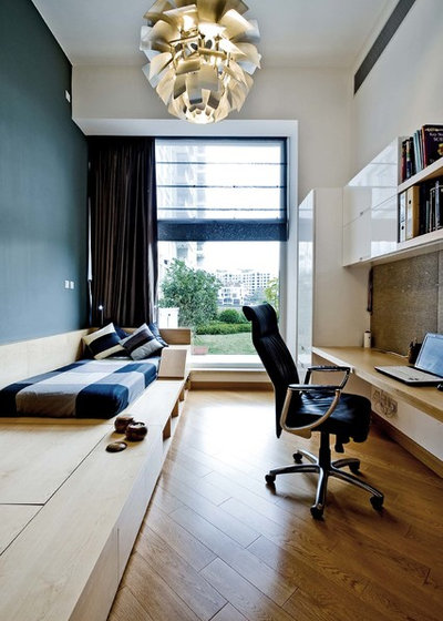 Contemporary Home Office by Ample DESIGN