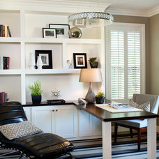 Transitional Home Office by Avalon Shutters, Inc.