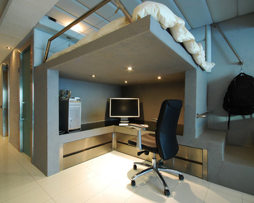 Modern Home Office Idea In Other Save Photo Originalsource Moden Studio Condo