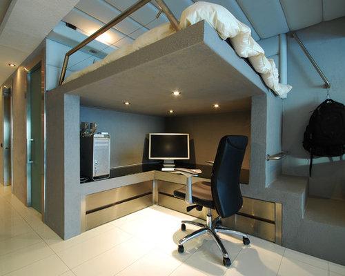 Modern Home Office Idea In Other Save Photo Originalsource Moden Studio Condo