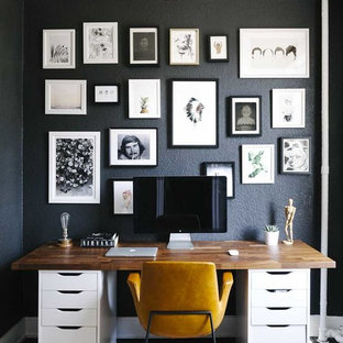 75 Beautiful Home Office With Black Walls Pictures Ideas May 2021 Houzz