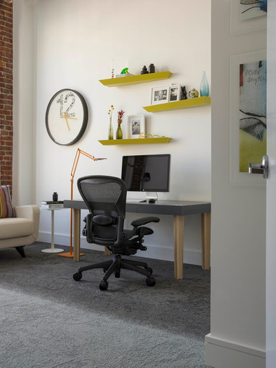 Contemporary Home Office by Jennifer Gustafson Interior Design