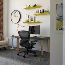 Modern Home Office by Jennifer Gustafson Interior Design
