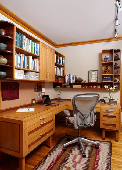 Craftsman Home Office by Ingrained Wood Studios