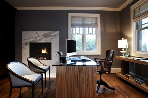 Contemporary Home Office by Beth Dotolo, ASID, RID, NCIDQ