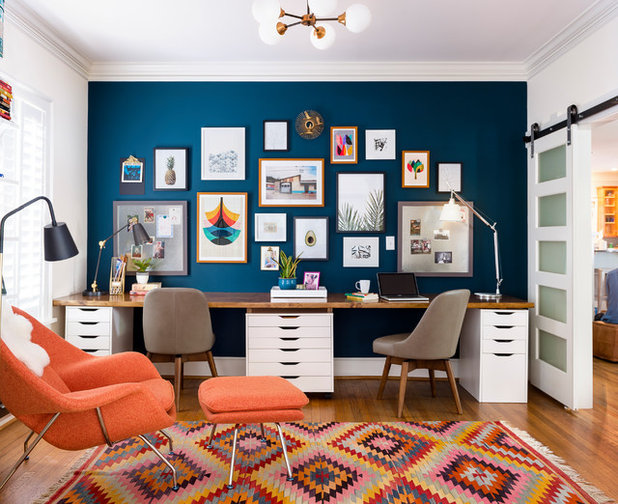 Eclectic Home Office by Gina Sims Designs