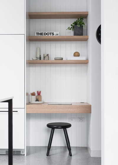 Modern Home Office & Library by The Little Design Corner