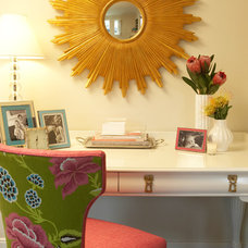 Contemporary Home Office by Laura Martin Bovard