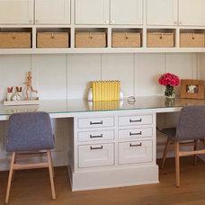 Farmhouse Home Office by Modern Organic Interiors