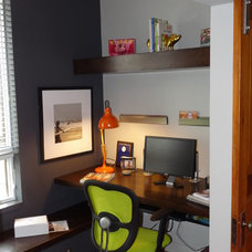 Contemporary Home Office by R Henry Construction Inc.