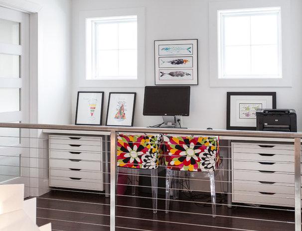 Contemporary Home Office by Becki Peckham