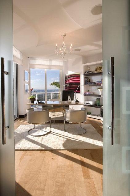 Modern Home Office by Britto Charette Interiors - Miami Florida