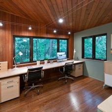 Modern Home Office by Custom Design/Build, Inc.