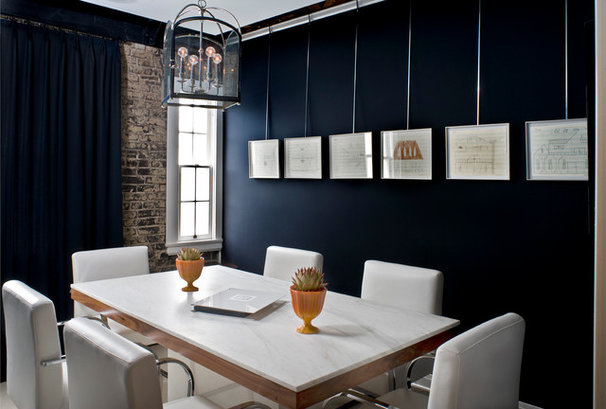 Transitional Home Office by Kenneth Brown Design