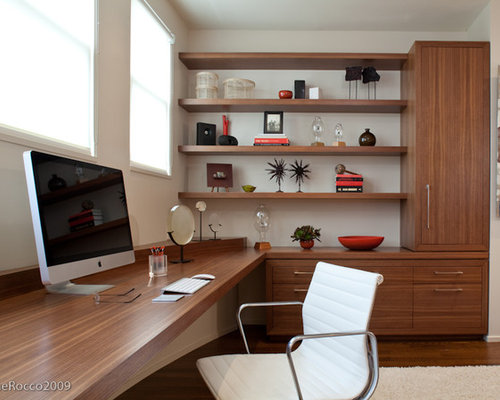 Modern home office design ideas remodels photos for Office design houzz