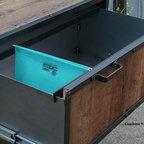 Modern Industrial File Cabinet. Reclaimed Vintage Wood. Filing Cabinet.