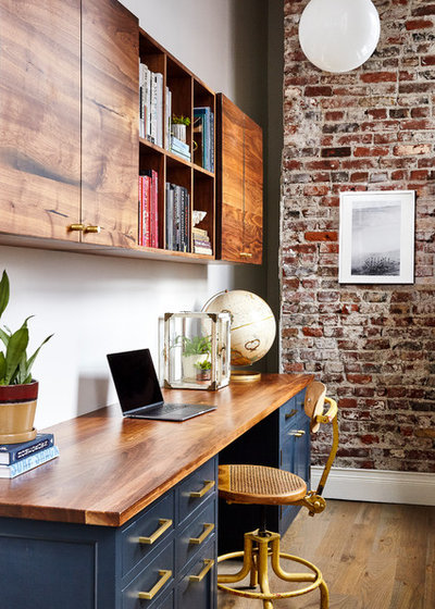 Transitional Home Office by Osborne Construction