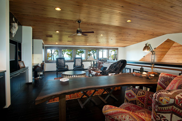 Rustic Home Office by Dianne Davant and Associates