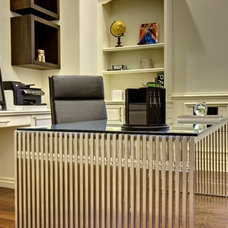 Contemporary Home Office by Sunscape Homes, Inc