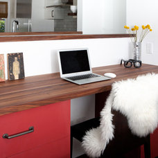 Midcentury Home Office by Regan Baker Design