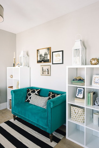 Transitional Home Office by Design Loves Detail