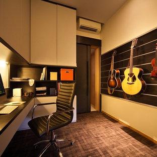 シンガポールのコンテンポラリースタイルのおしゃれなホームオフィス・仕事部屋の写真