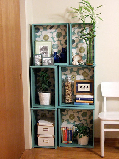 Contemporary Home Office & Library by Monica Ewing