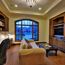 Traditional Home Office by Maggetti Construction Inc.