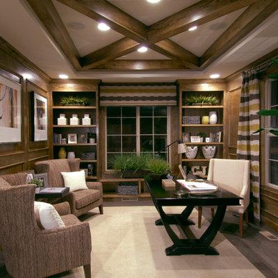 Home office - traditional freestanding desk home office idea in Denver