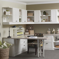 traditional home office by More Space Place Plano